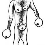 """Mr Titties"" (ink on paper, 21X29,7cm), 200 euros"