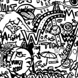 """""""Concept me Wall"""" (ink on paper, 21x29,7cm), 300 euros"""