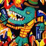 """""""Croco Dick"""" (Acrylic on canvas, 33x45cm), 400 euros"""