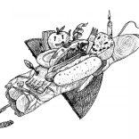 """""""Flying saucer"""" (ink on paper, 21x29,7cm), 250 euros"""