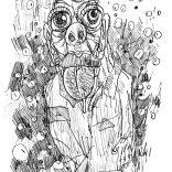 """Satyre"" (pencil on paper, 21x29,7cm), 250 euros"