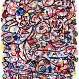 """GraffinBrain part1"" (Markers on paper, 45x60cm), 550 euros"