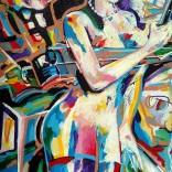 """Alexanderplatz N2"" (acrylic on canvas, 38x54cm), 650 euros"
