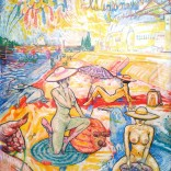 """Les craneuses"" (mixed medias on paper, 50x65cm), 1200 euros"