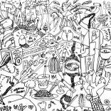 """Mindfull Masturbation"" (marker on paper, 100x70cm), 800 euros"