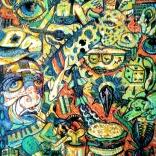 """""""Echappee N3"""" (mixed medias on canvas), 45x65cm), 750 euros"""