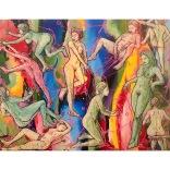 """""""Magnelli Ft Casanova"""" (mixed medias on canvas, 90x70cm), 1350 euros"""