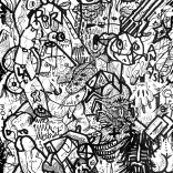 """""""Urban Vipers"""" (ink on paper, 29,7x21cm), 150 euros"""