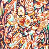 """GraffidrawAutism"" (markers on paper, 29,7x21cm), 250 euros"