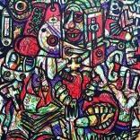 """Variations on Graffidraw N1"" (markers on paper, 29,7x21cm), 250 euros"